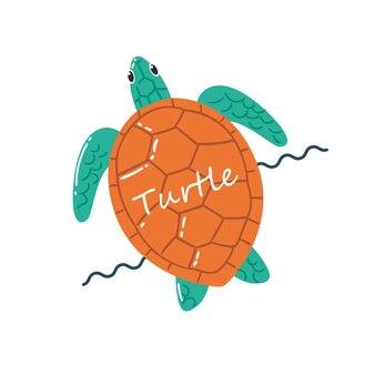 Schildkröte-schwimmen-illustration