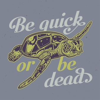 Schildkrötenillustration mit beschriftung