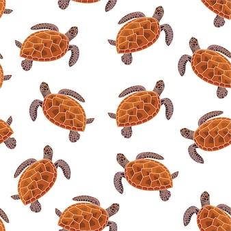 Schildkrötenmuster. nahtloses muster.