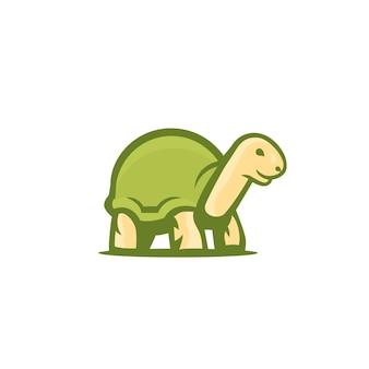 Schildkrötenvektorlogo auf weiß