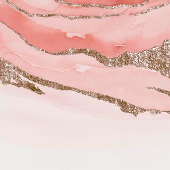 Schimmernder rosa aquarellpinsel schüren hintergrundvektor