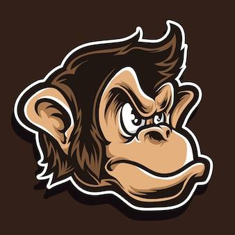 Schimpanse-vektor-logo