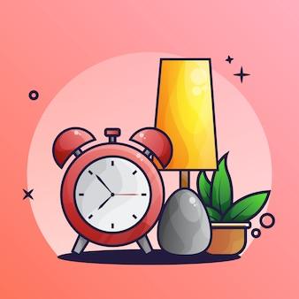 Schlaf-licht und alarmsymbol