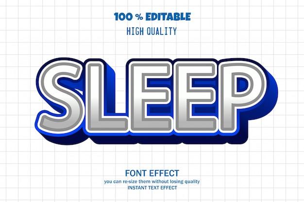 Schlaf-text, schriftarteneffekt