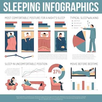 Schlafen infografiken layout