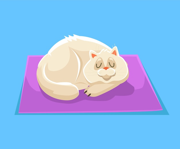 Schlafende katzenillustration