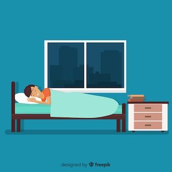 Schlafende person