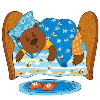 Schlafender bär.