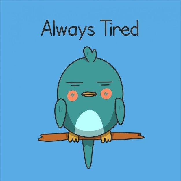 Schlafender vogel immer müde