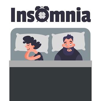 Schlaflose schlaflosigkeit konzeptkunst
