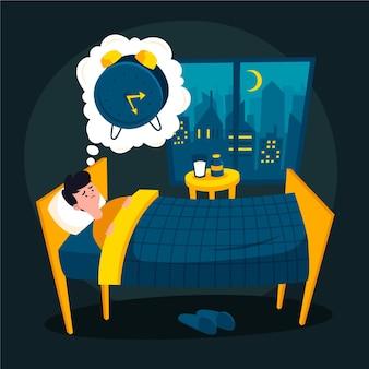 Schlaflosigkeit konzept