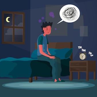 Schlaflosigkeit konzeptillustration