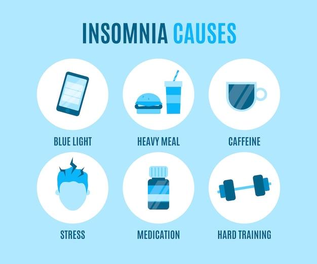 Schlaflosigkeit verursacht illustration