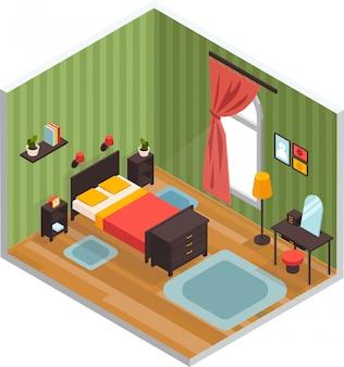 Schlafzimmer-innenraumkonzept