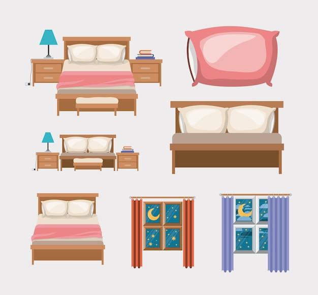 Schlafzimmer und elemente nach hause