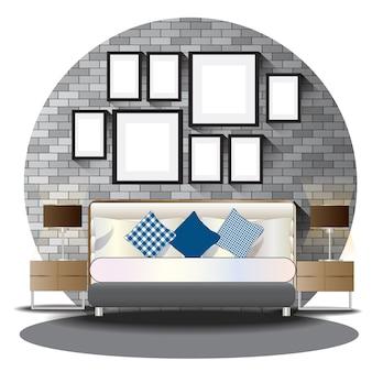 Schlafzimmerhöhe eingestellt mit hintergrund