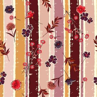 Schlagblumen auf buntem bürstenstreifen der süßigkeit