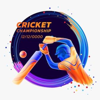 Schlagmann, der cricket-meisterschaftswettbewerbssportarten spielt