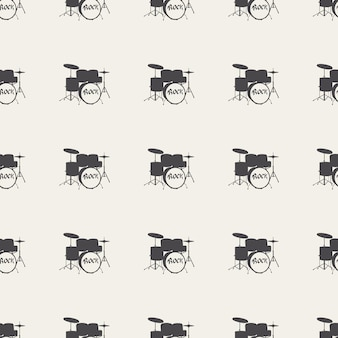 Schlagzeugmuster, musikillustration. kreatives und luxuriöses cover