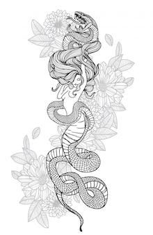 Schlange frauen