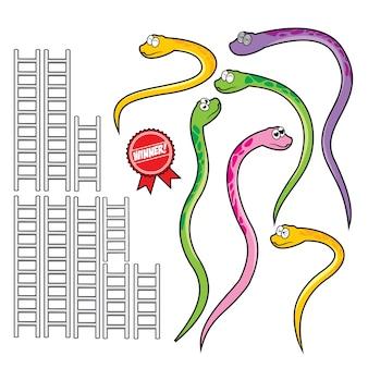 Schlange und leiter set