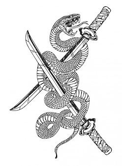 Schlange und schwert