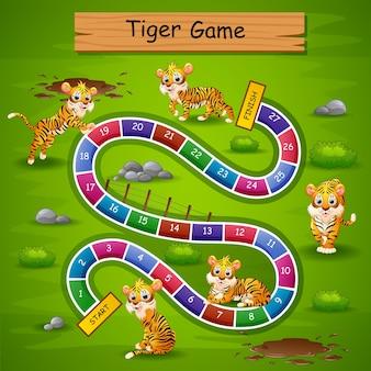 Schlangen leitern spiel tiger thema