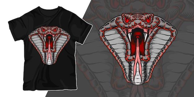 Schlangengrafikillustrations-t-shirt-design