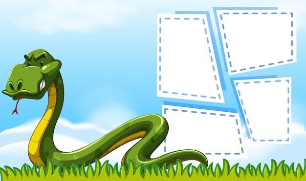 Schlangenrand gestaltet copyspace