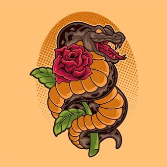 Schlangenrose illustration