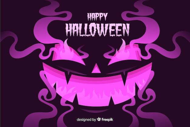 Schlechter halloween-hintergrund mit flachem design