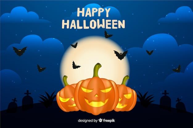 Schlechter realistischer halloween-hintergrund