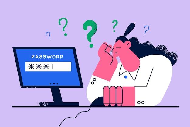 Schlechter speicher und arbeiten am computerkonzept