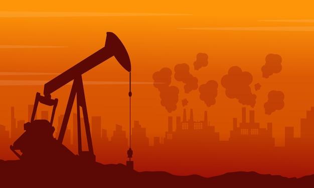 Schlechter umgebungshintergrund mit verschmutzungsindustrie