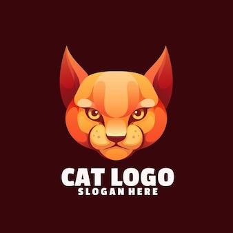 Schlechtes buntes logo der katze