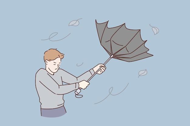 Schlechtwetter- und sturmkonzept