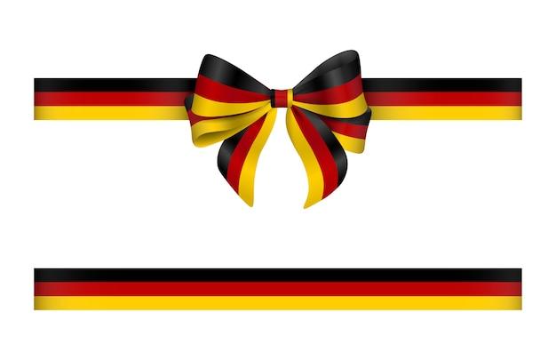 Schleife und band mit deutschen flaggenfarben