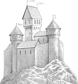 Schloss auf felsen