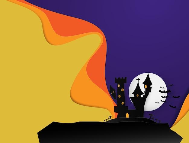 Schloss halloween banner hintergrund