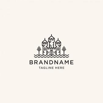 Schloss logo design vorlage