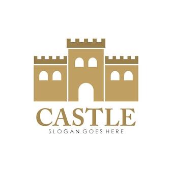 Schloss-logo, symbol und illustration design-vorlage