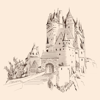Schloss und landschaft.