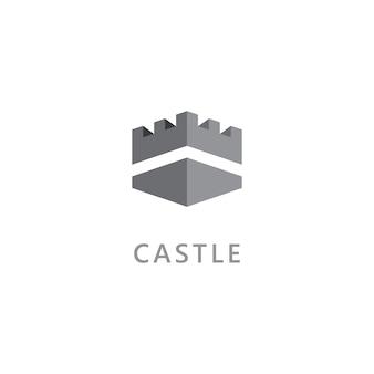 Schloss-vektor-logo-symbol template-vektor-design