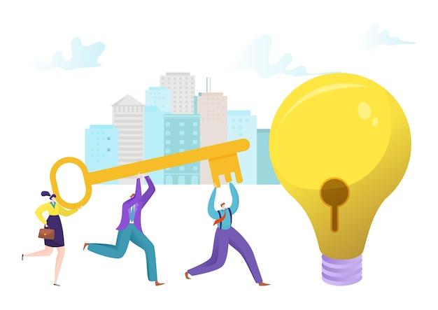 Schlüssel für das konzeptdesign einer flachen idee