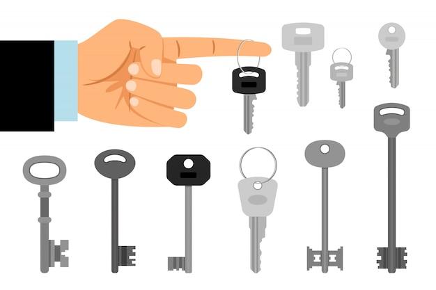 Schlüssel hängen am finger