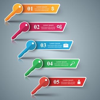Schlüssel infografik