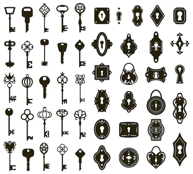 Schlüssel und schlüssellöcher