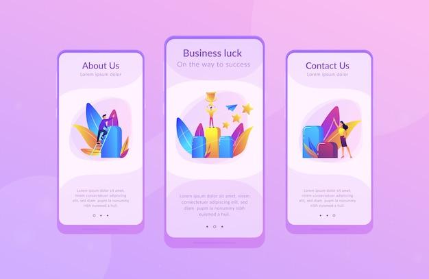 Schlüssel zum erfolg app interface-vorlage