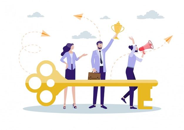 Schlüssel zum erfolg der zusammenarbeit