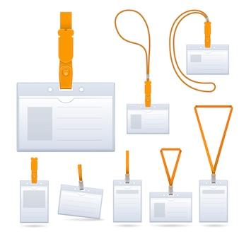 Schlüsselband, namensschildhalter-ende-ausweisvorlagen